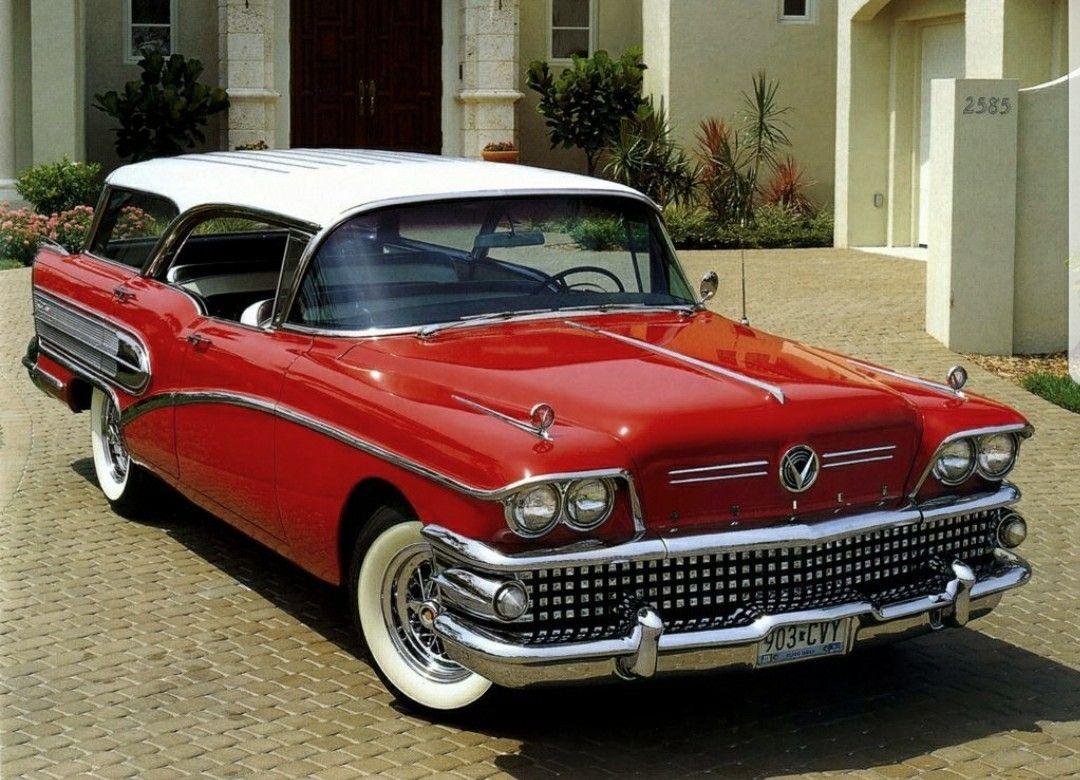 1958 Buick Pillarless Hardtop Estate Wagon Station Wagon Cars Classic Cars Trucks Buick Wagon