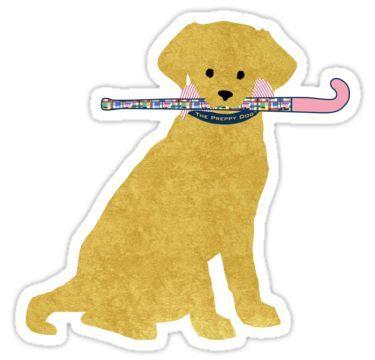 Golden Retriever Preppy Madras Field Hockey Dog Sticker By Emrdesigns In 2020 Field Hockey Field Hockey Girls Field Hockey Stickers
