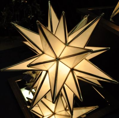 Moravian Star lighting from Starry Treasures available at #Binns of Williamsburg