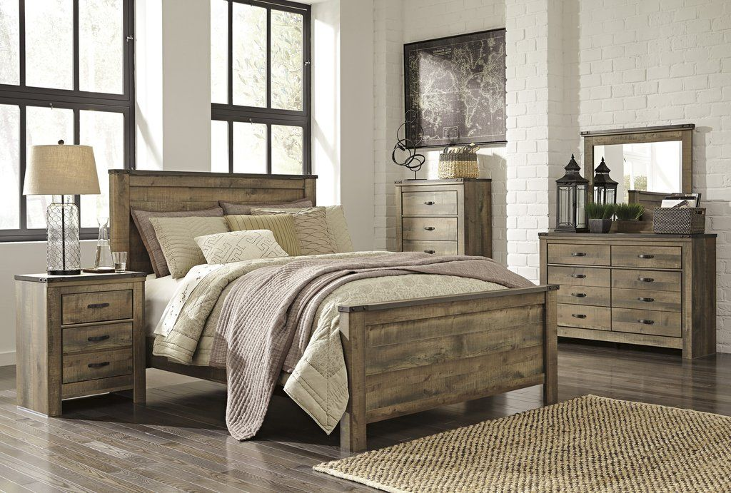 Best Ashley Furniture Trinell Queen 6 Piece Bedroom Set King 400 x 300