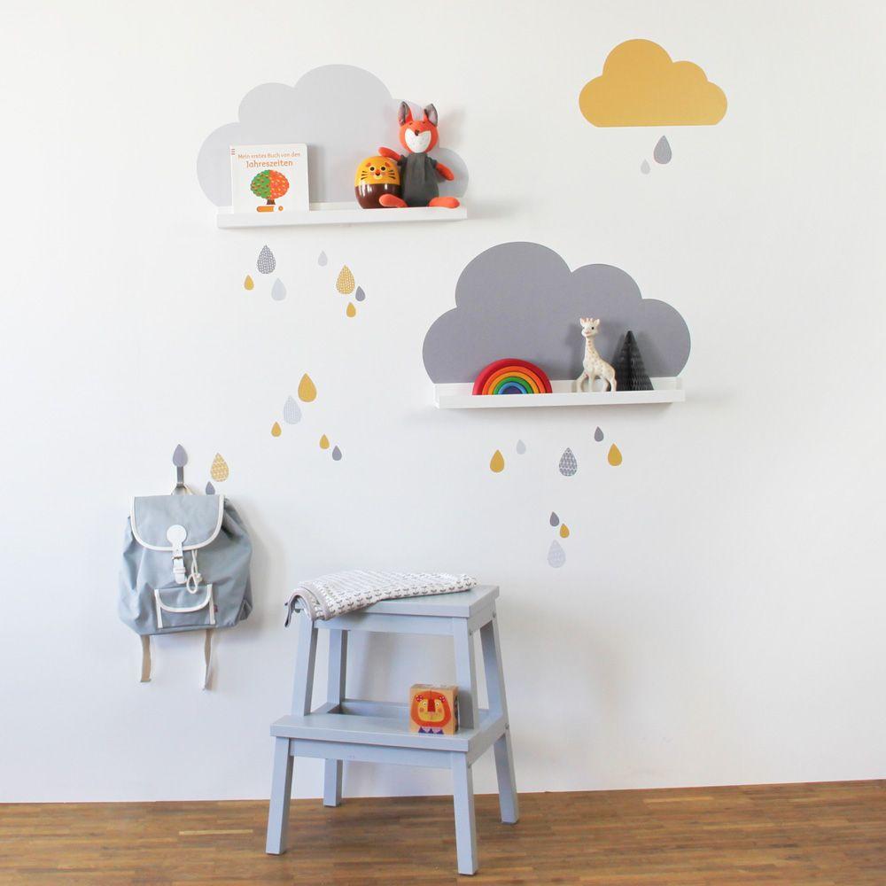 Wolken Tattoo fürs Kinderzimmer - passend für IKEA Bilderleisten ...