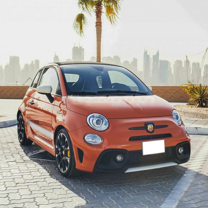 Drive 😎 The Fiat Abarth 🚙 In Dubai For Only AED 300/day