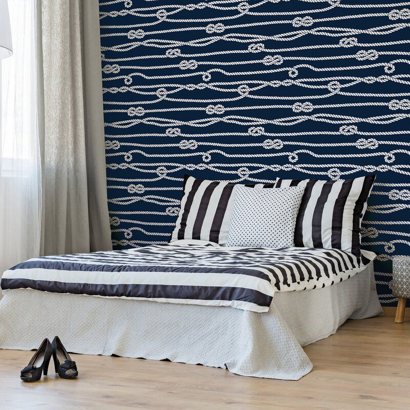 Hatton Line Nautical Removable Peel And Stick Wallpaper Panel Removable Wallpaper Feature Wall Bedroom Wallpaper Panels