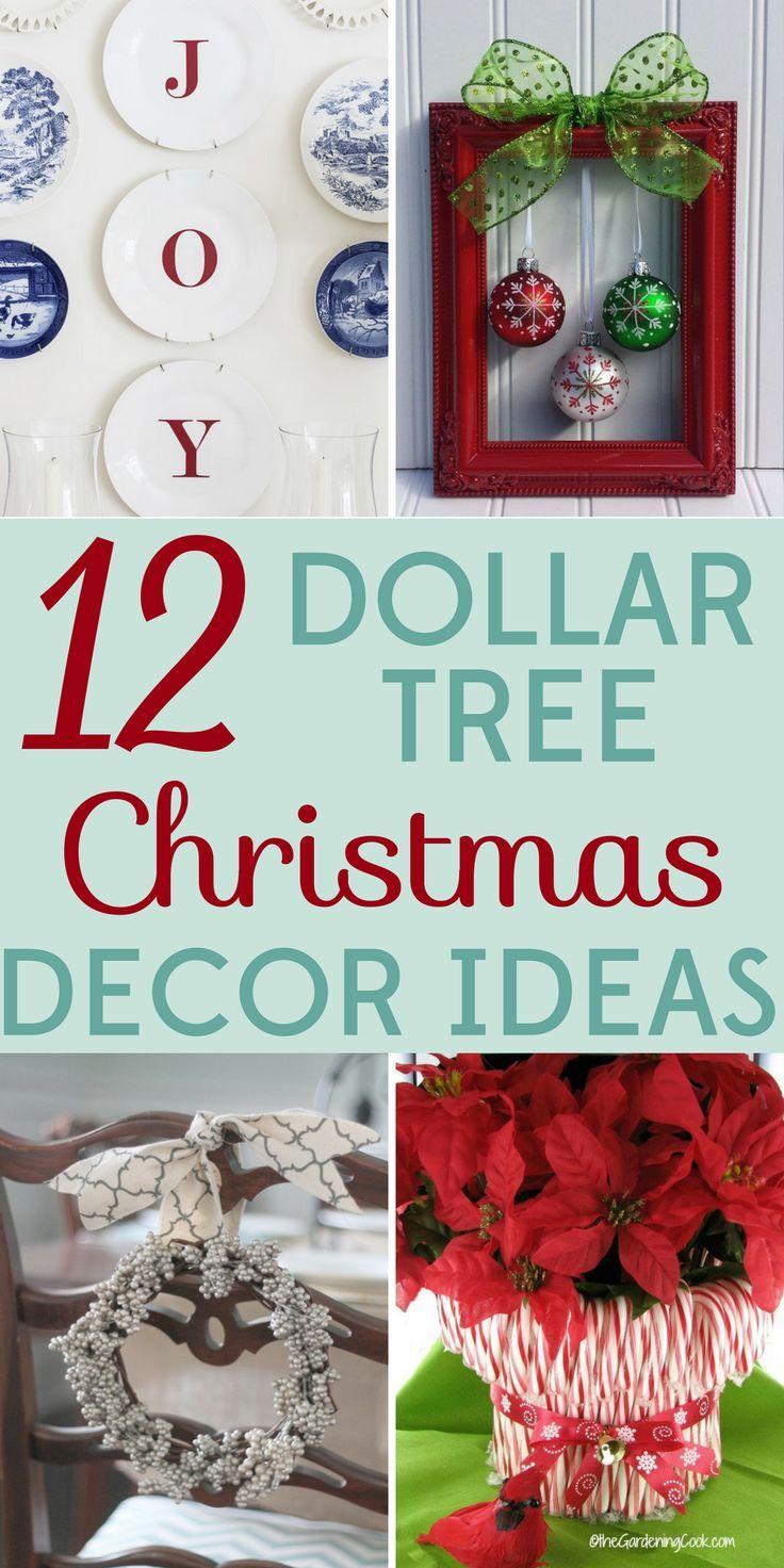 12 Dollar Tree Christmas Decor Ideas | Christmas decor, Holidays and ...