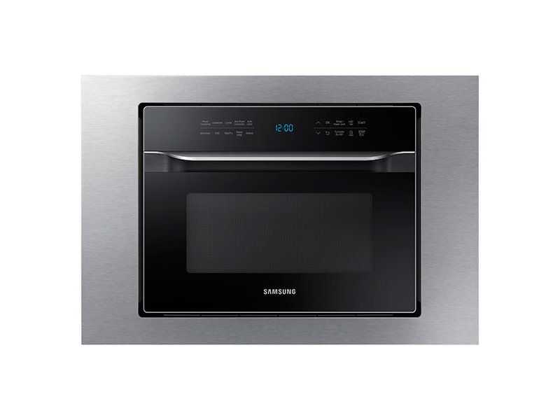 Samsung 1 2 Cu Ft Powergrill Duo Countertop Microwave With Power Convection And Built In Application In Black