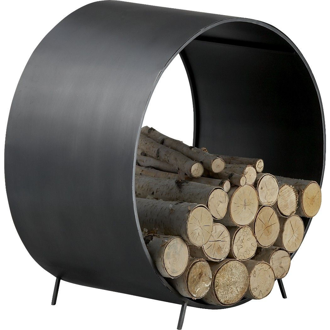 Chuck Round Log Holder Reviews Wood Storage Fireplace Accessories Log Holder