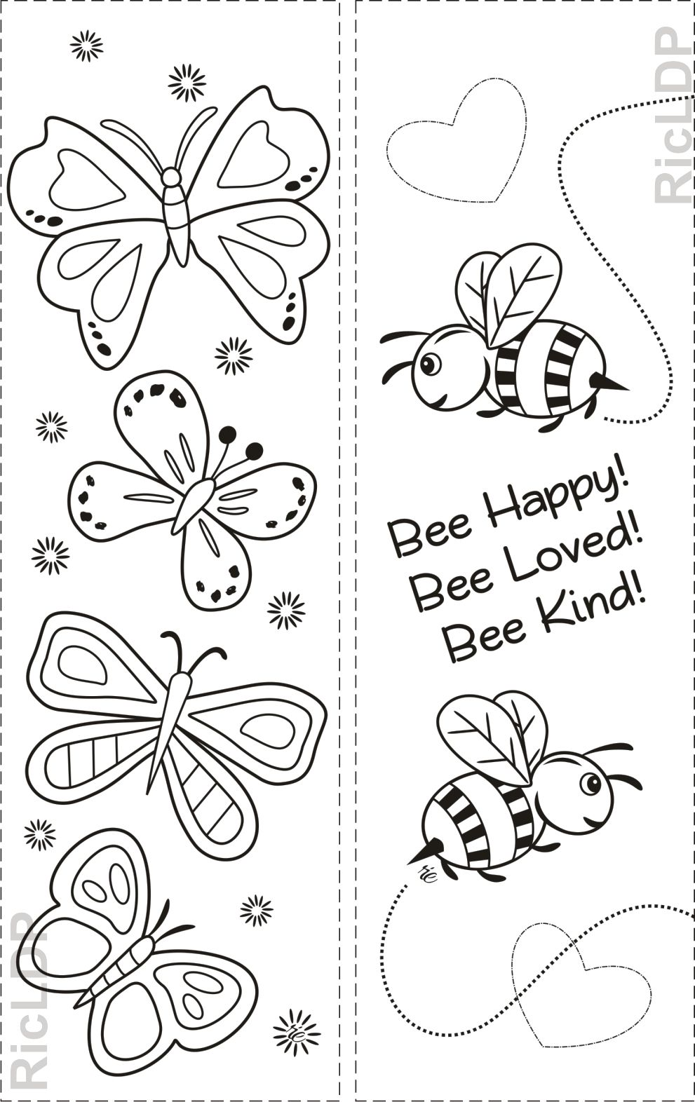 Free Three Coloring Bookmarks With Simple Designs Coloring Bookmarks Coloring Bookmarks Free Butterfly Bookmarks [ 1572 x 991 Pixel ]