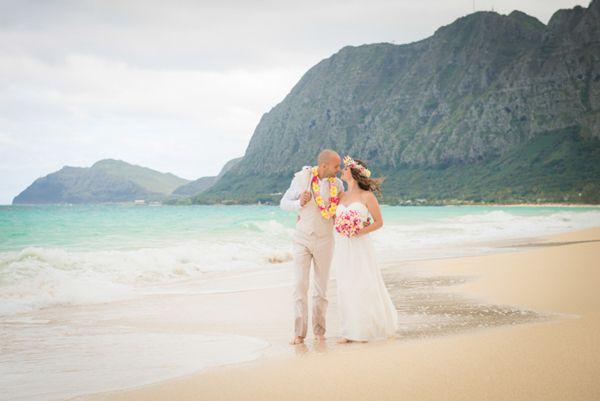 Intimate Oahu Wedding At Waimo Beach Jay Erica Elusive Visions Hawaii