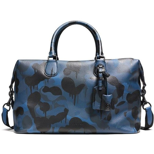 9db5c776ff16 COACH Explorer Camo-Print Leather Duffle Bag