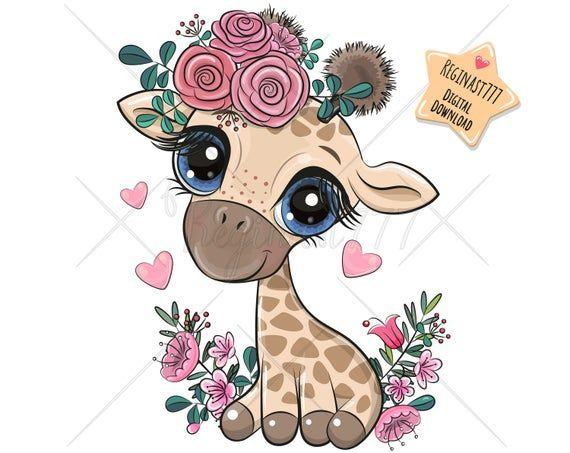 Cute Giraffe Png Digital Download Clipart Sublimation Etsy In 2021 Cartoon Giraffe Cute Animal Drawings Cute Cartoon Animals