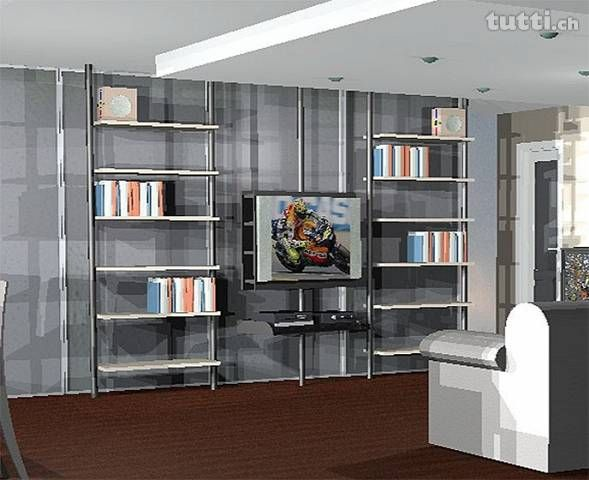 Arredamento Libreria ~ Arredamento libreria sistema zemma soggiorno e o camera chris