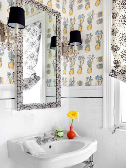 10 Big Ideas For Small Bathrooms Small Bathroom Small Bathroom Pictures Bathroom Design Modern wallpaper for bathrooms 10