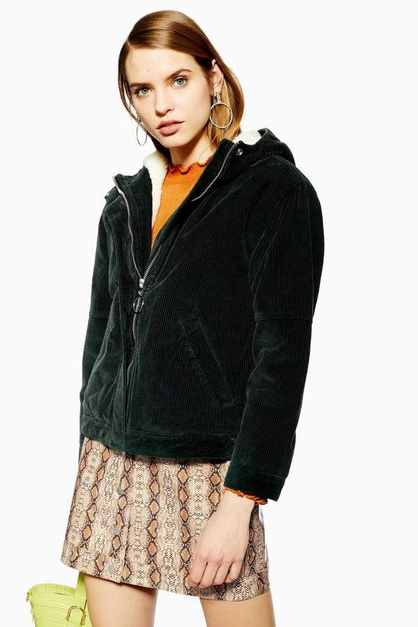 bb37711f8f8a08 Corduroy Borg Hooded Jacket in 2019