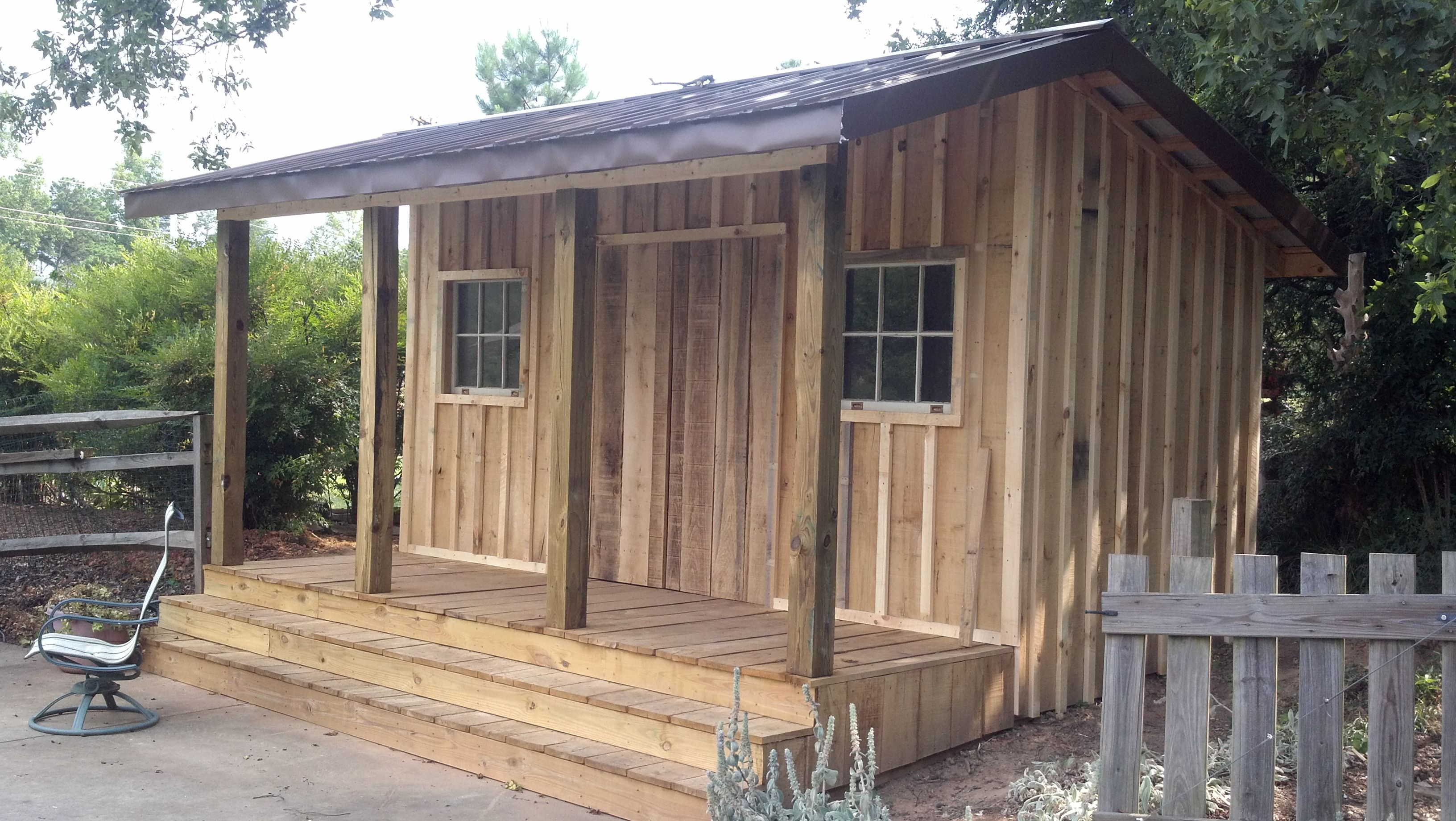 Small Cabin Or Shed In Rough Cut Lumber Cabin Fever