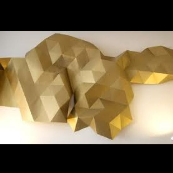 Origami wall tessellation. Can be made for under $10! | DIY ...
