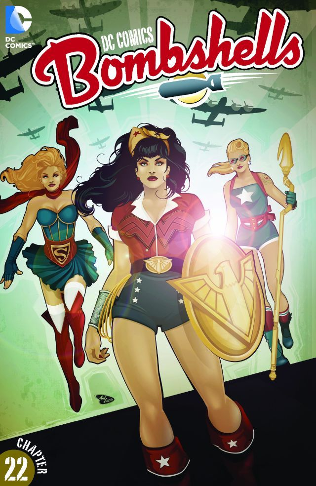 DC Comics Supergirl Bombshells Mounted /& Framed Print