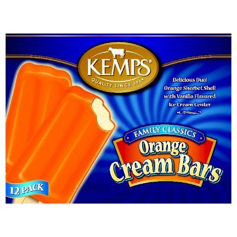 Kemps Orange Cream Bars 12 Pk