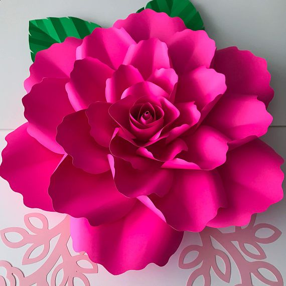 DIY paper flower template package with petal and center. PDF petal ...