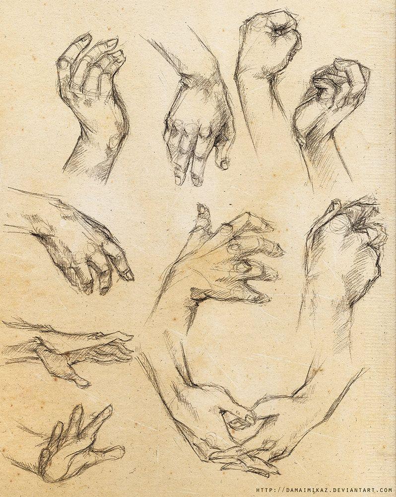 [Practice] Hands by DamaiMikaz on deviantART