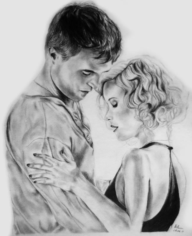Jacob and Marlana Water for elephants drawing by Cosmosis93