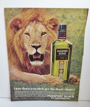 Vintage 1974 PASSPORT SCOTCH Advertisment by TheVintageReader, $10.00