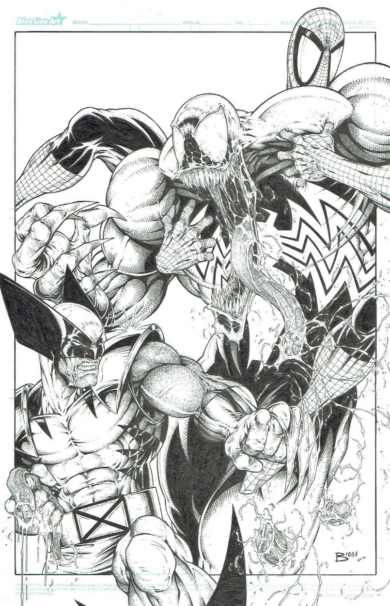 Venom Spiderman Kleurplaten.Spidey Wolverine Vs Venom By Jamie Biggs Venom Venom Marvel