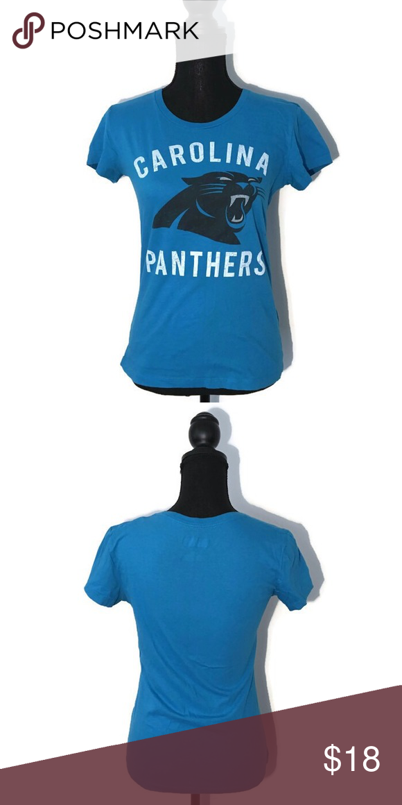 9ee465a9 Carolina Panthers NFL Blue Women's Tee Vintage NFL Team Apparel Carolina  Panthers blue women's cut tee with a vintage-look design In excellent  condition!