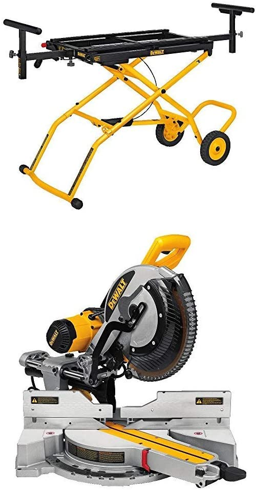 Dewalt Dws779 12 Sliding Compound Miter Saw And Dwx726 Rolling Miter Saw Stand Powertools Powersaws Mitersaw Com