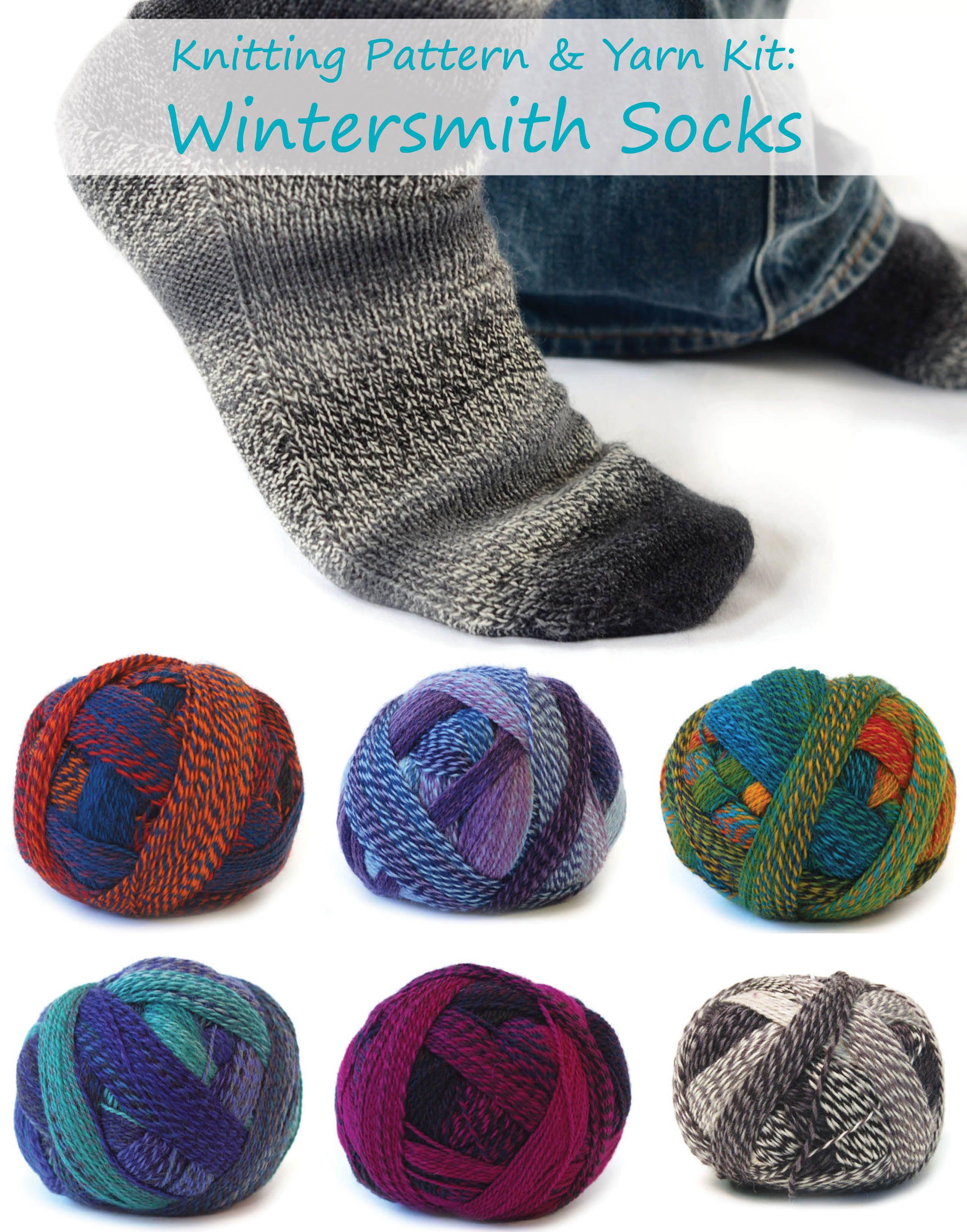 Kit - Wintersmith Socks in Crazy Zauberball | Knitting patterns ...