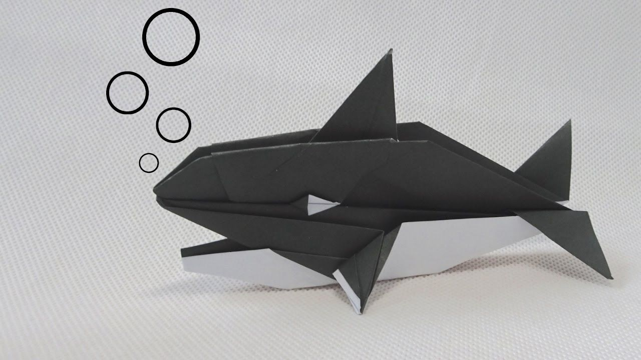 Origami Killer Whale Robert J Lang John Montroll Stuff To Try Shark Diagram