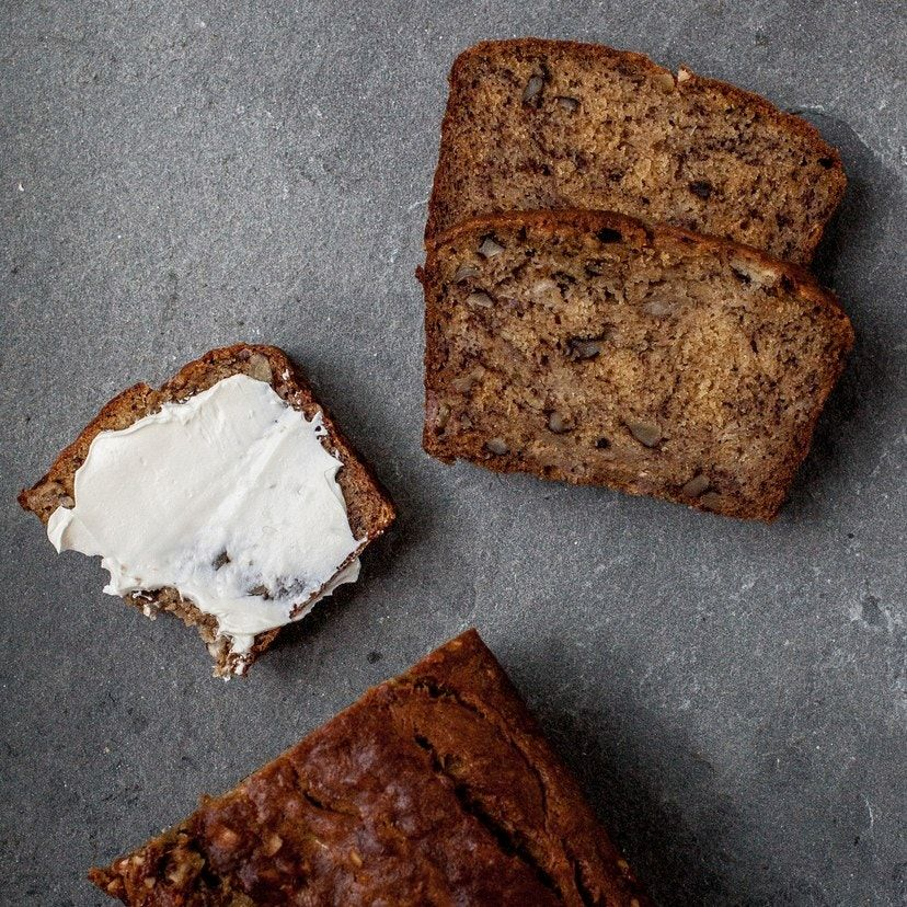 Here at BA everybody has their favorite banana bread recipe. We made every one—14 to be exact—until we came up with a collective favorite. Dark brown sugar is key and a dollop of mascarpone makes for superior tenderness. Walnuts optional but encouraged.