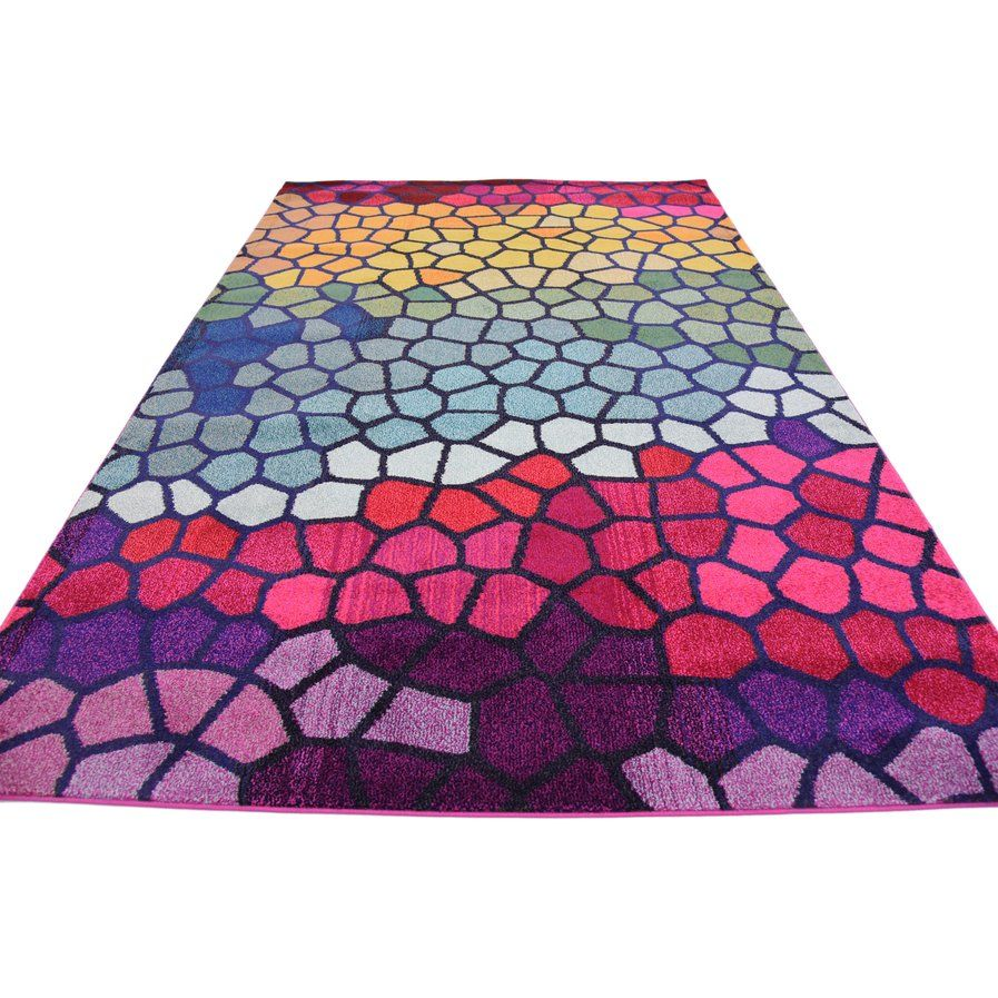 Oldsmar Pink Yellow Area Rug Area Rugs Fluffy Rug