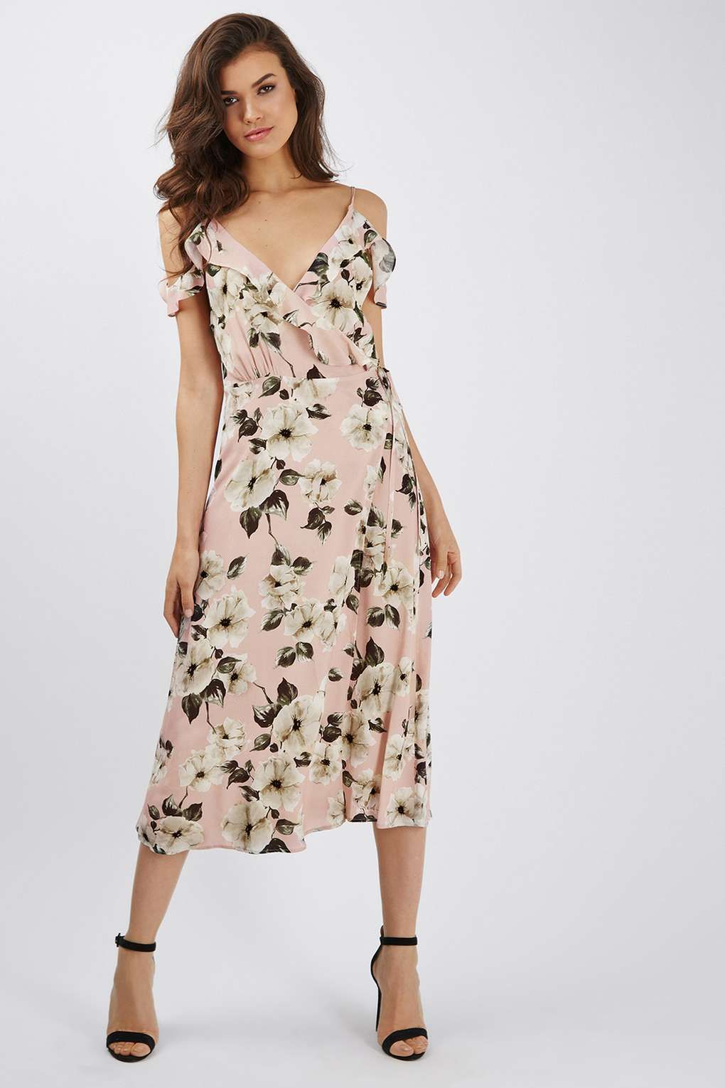 Floral Midi Dress Dresses Pinterest Midi Dresses Topshop And