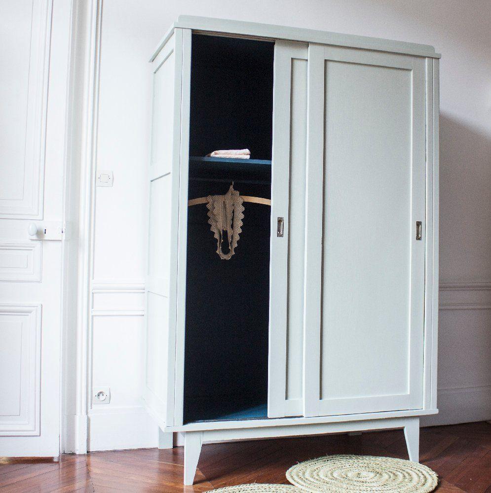Armoire Vintage Chambre Armoire Vintage Armance With Armoire  # Tapisser Une Armoire Ancienne
