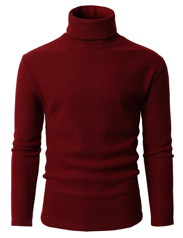 Mens Slim Fit Casual Turtleneck Pullover Thermal Sweaters Kmoswl0210 Wine Cm1887lzryz Hirkalar [ 1500 x 1153 Pixel ]