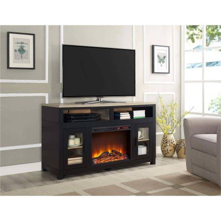 Carver Fireplace Tv Stand Up To 60 Inch Multiple Colors Black