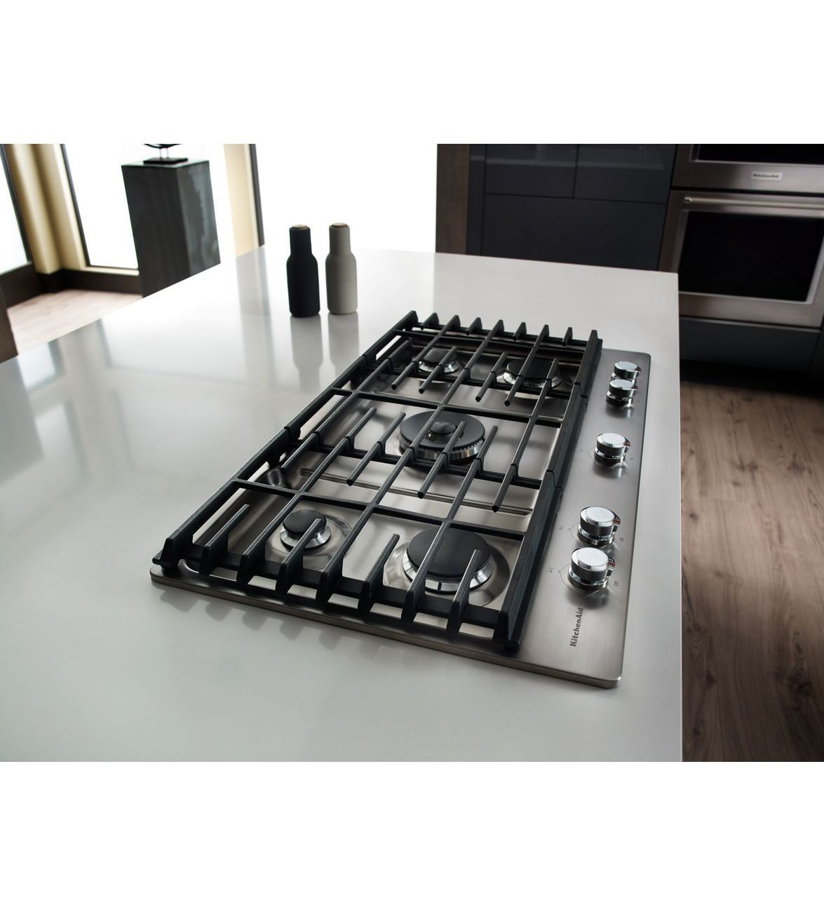 KitchenAid® 36\'\' 5-Burner Gas Cooktop with Griddle | Kitchens ...