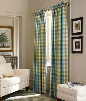 Moire Plaid Rod Pocket Curtains We Are Getting These In
