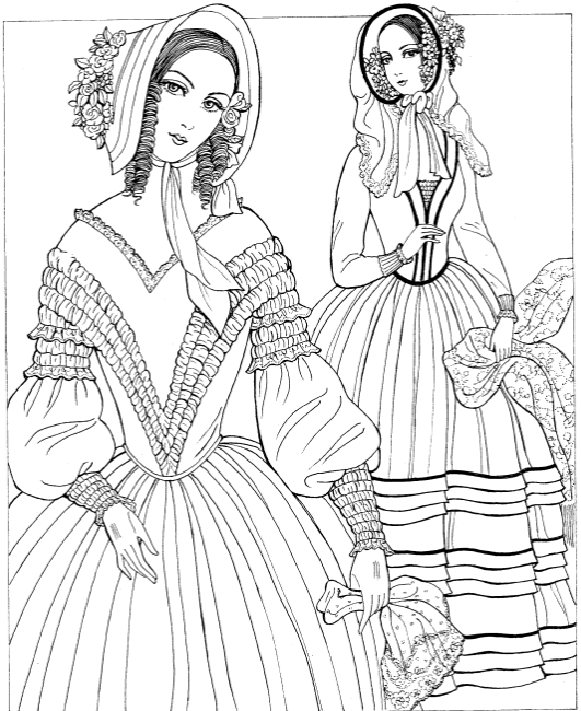 Historical Fashion Coloring Book