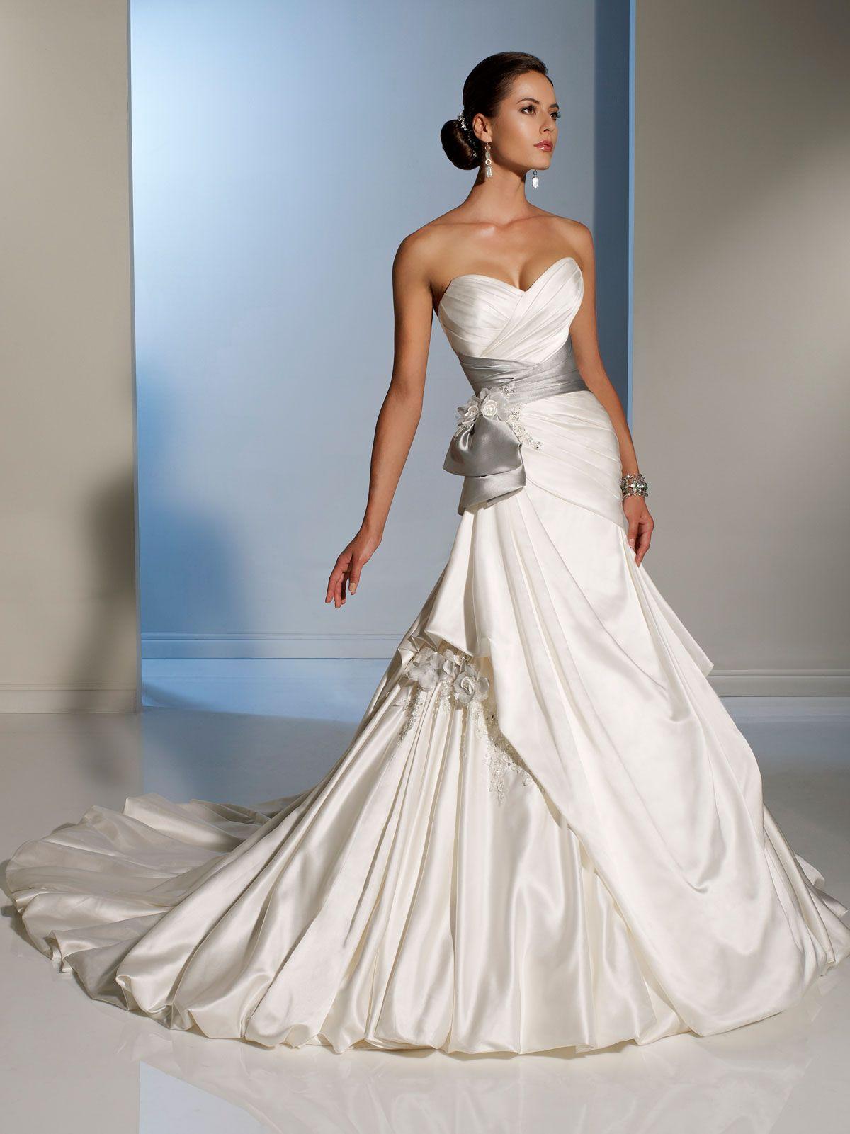 47+ White satin ball gown wedding dress ideas in 2021