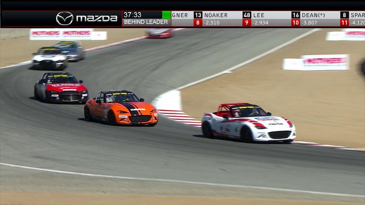 Laguna Seca Race 1 Battery Tender Global Mazda MX5 Cup