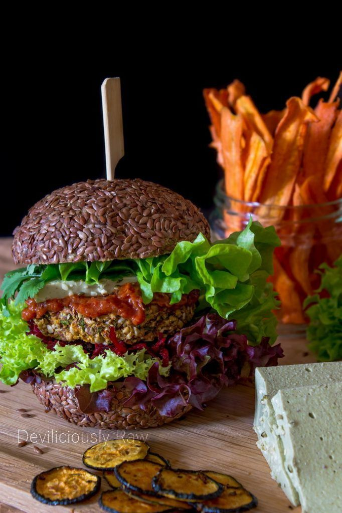 Raw vegan veggie burger from deviliciously raw raw recipes raw vegan veggie burger from deviliciously raw forumfinder Image collections
