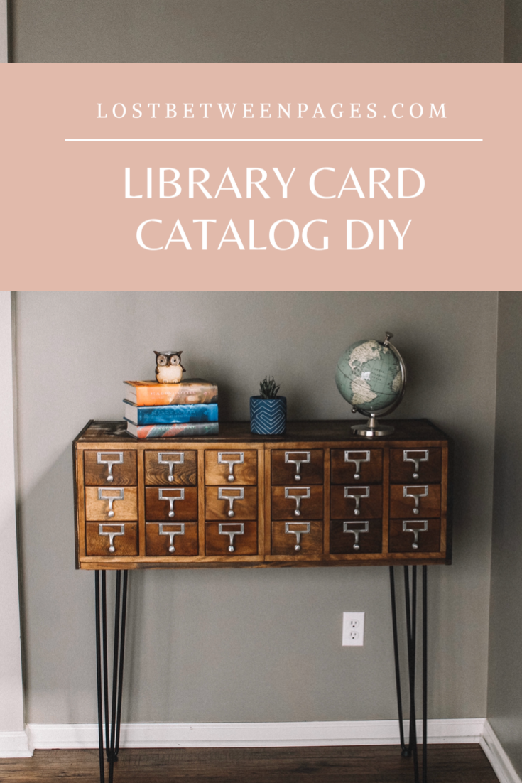Library Card Catalog Diy Library Card Catalog Card Catalog Card Catalog Diy