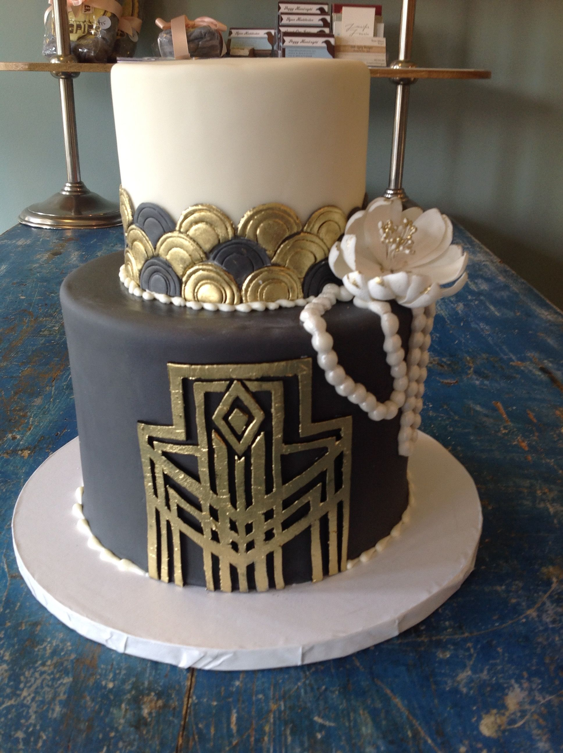 Artist: Sarah Ono Jones Magpies Bakery Knoxville, TN Two tier ...