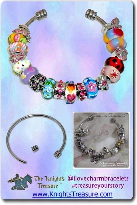 Timeline Treasures Charm Bangle Bracelets For Women, Stainless Steel, Fits Pandora, Medium http://www.amazon.com/dp/B00TLAOOJI