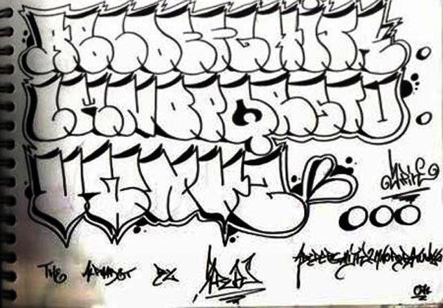 Graffiti Alphabet Letters A Z Tag Throw Up Hip Hop