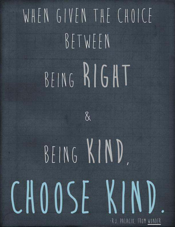 wonder choose kind - Google Search   Wonder   Pinterest   Teaching ...
