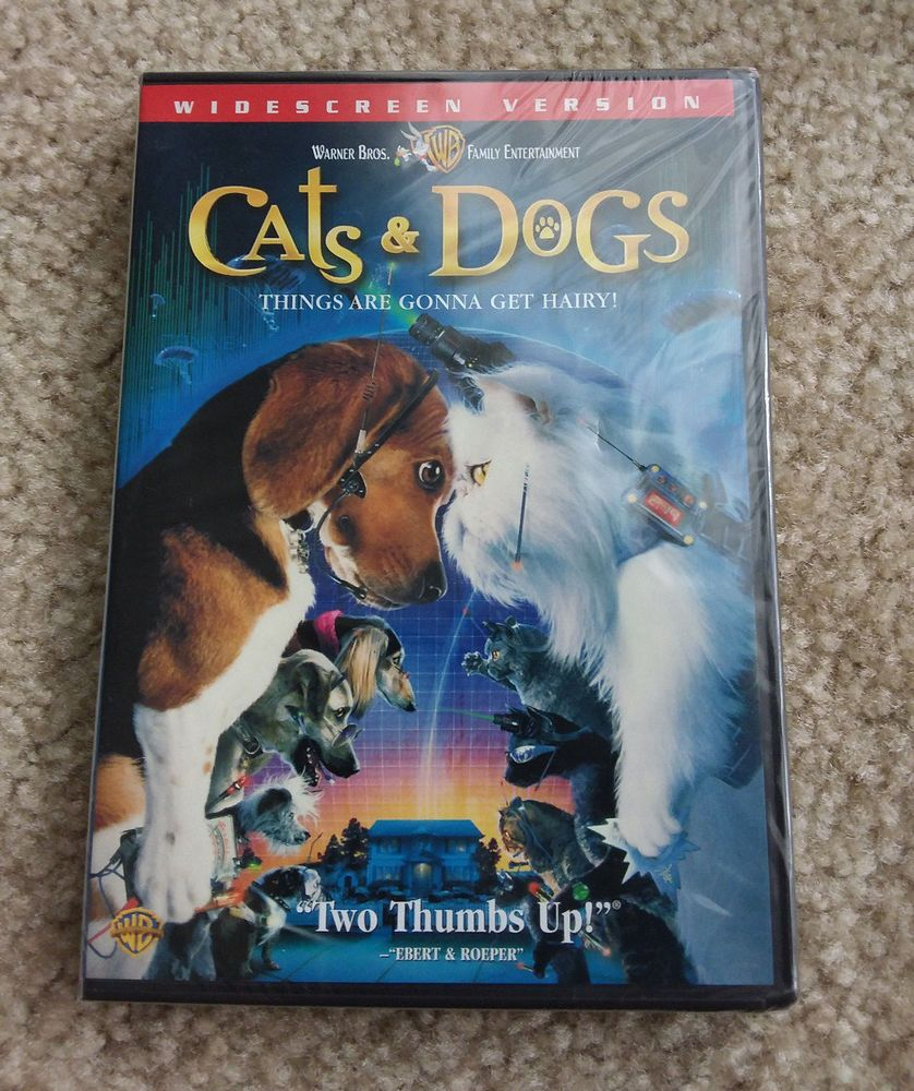 Cats Dogs Dvd 2001 Widescreen Version New Sealed Dog Cat