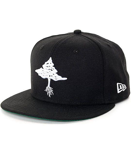 New Era NE400 Charcoal Flat Brim Snapback Hat//Cap American Flag Black//White