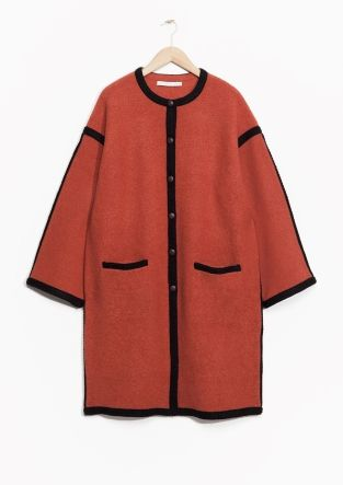 Other Stories Rusty Red Wool Coat Plus Size Pinterest